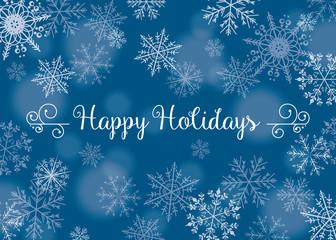 Happy Holidays - Snowflake vectors