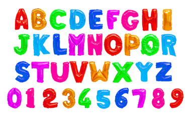 Color English alphabet