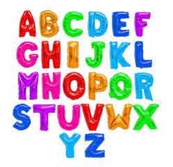 Color English alphabet