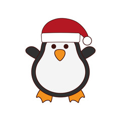 cute penguin character isolated icon vector illustration design