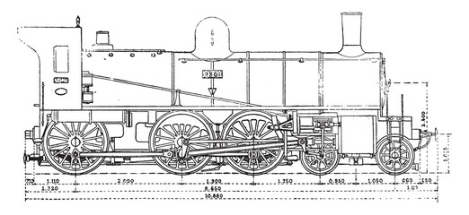 Machine has three axles and the bogey couples, the Western Railw