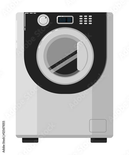 "Washing Machine In Kitchen Design: ""Modern Automatic Washing Machine With Front Loading"