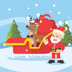 santa angry because of deer