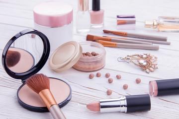 Cosmetics with jewellery