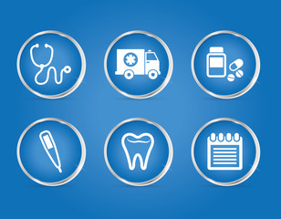 Medical healthcare service icon vector illustration graphic design