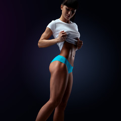 Slim and fit female model