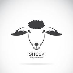 Vector image of a sheep head design on white background, Vector
