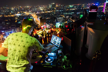 DJ - Party on top of building with music entertainment