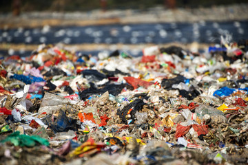 landfill waste site