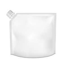 Single blank flexible drink pouch bag with spout