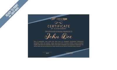 Simple elegant Certificate decorated template vector