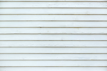White planks of wooden wall surface as high resolution texture