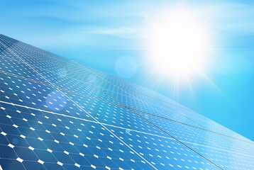 Detailed Vector Illustration of Electric Solar Panel. Photorealistic Vector Design