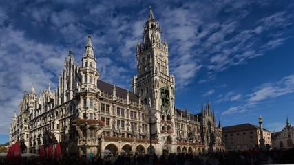 rathaus marienplatz  mariensäule, münchen sehenswürdigkeit panorama HD hochauflösend