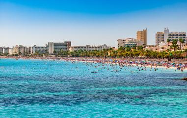 Coastline Spain Majorca Beach of Cala Millor
