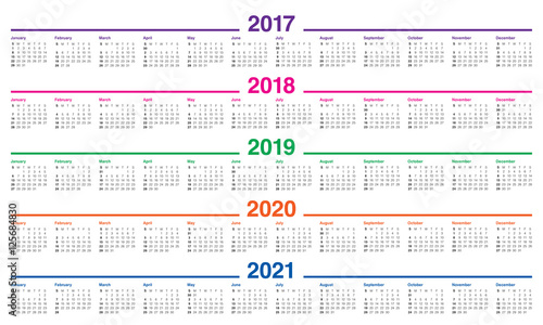 """2017-2019 Year Calendar"" Stock image and royalty-free ..."