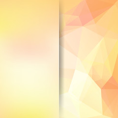 Abstract polygonal vector background. Colorful geometric vector illustration. Creative design template. Abstract vector background for use in design. Yellow, orange colors.