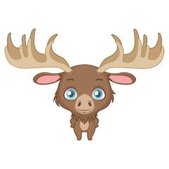 Cute moose illustration art