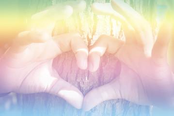 hands making an heart shape
