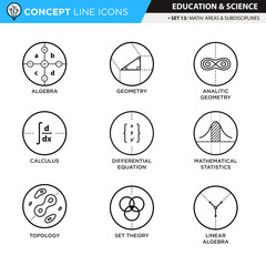 Concept Line Icons Set 13 Math