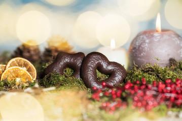 Weihnachtliche Szene mit Lebkuchen