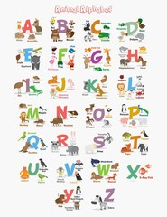 Cute Animal Zoo Alphabet.