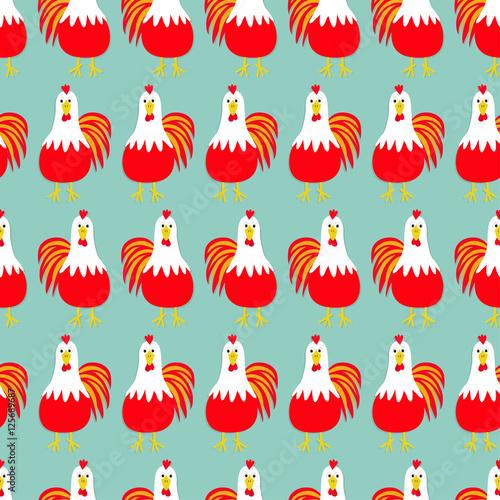 bird. Seamless Pattern. 2017 Happy New Year symbol Chinese calendar ...