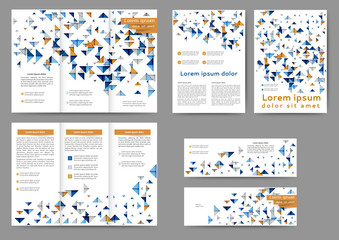 Set of colored abstract brochure template