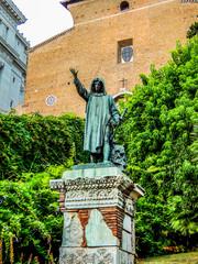 Statue of Cola di Rienzo in front of Santa Maria in Aracoeli Basilica on Capitoline Hill, Rome, Italy