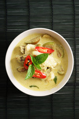green curry chicken,thai food