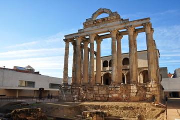 Ancient roman temple in Merida, Spain