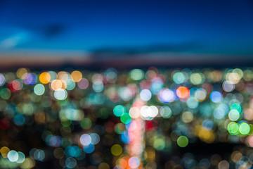 Blur defocused of twilight city view