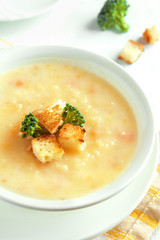 Vegetable and cheese soup