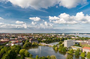 Kiel Panorama aus der Luft