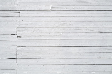 white wall wooden planks texture background horizontal lines