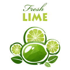polygonal fresh lime