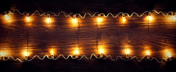 celebration garland of light bulbs