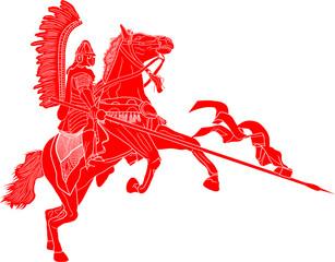 husarz na koniu