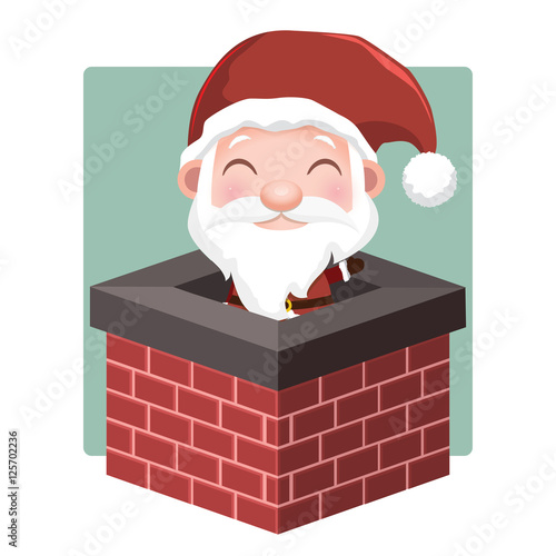 Quot Santa In Chimney Quot Stock Image And Royalty Free Vector