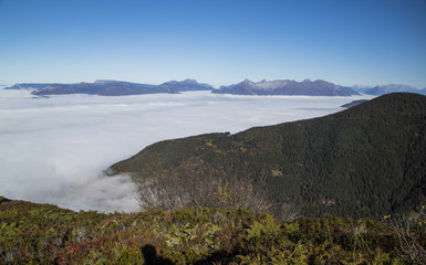 Massif de Belledonne - Mer de nuages.
