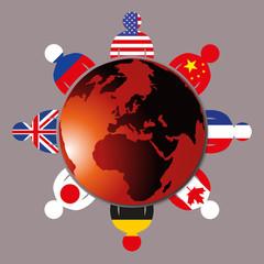 Sommet du G8 - économie - partenariat