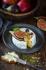 Camembert with cheese and nuts