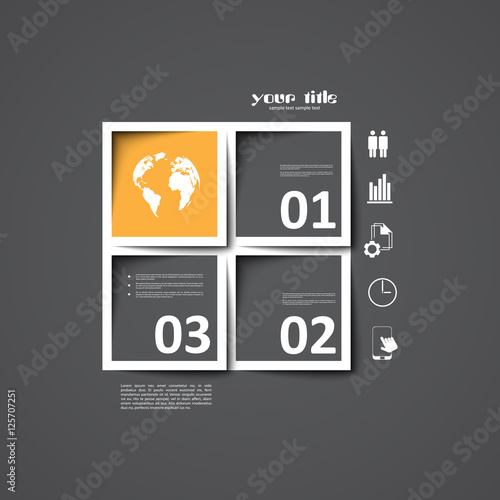3d square infographic template stock image and royalty free vector