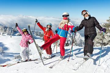 Vacances de ski en famille