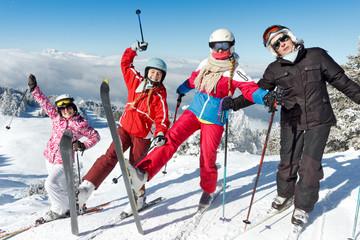 Sports d'hiver en famille