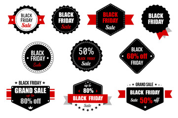 Black Friday Sale Banner. Promotional Discount Label. Vector icon