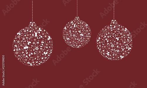 christbaumkugeln aus vielen weihnachtssymbolen. Black Bedroom Furniture Sets. Home Design Ideas