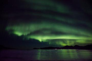 Beautiful aurora reflections