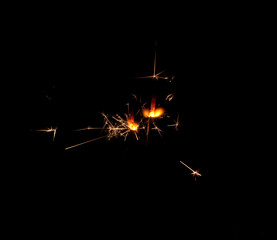 Foto op Canvas Helicopter Two sparklers
