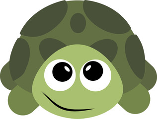 Funny, turtle, cartoon, vector, smile